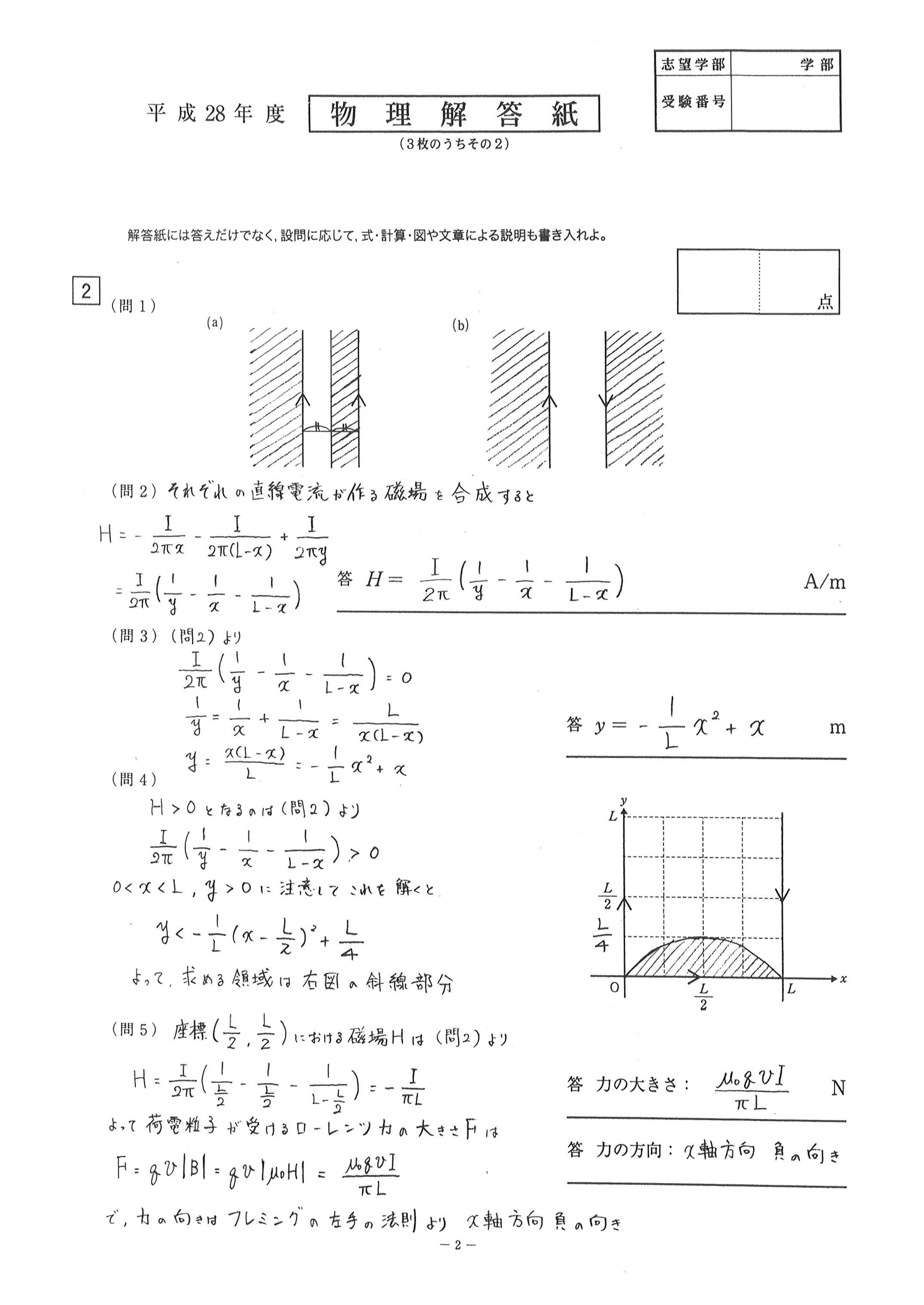 受験物理 - 物理の入試問題を解く