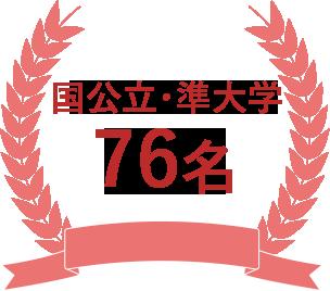 国公立大学81名